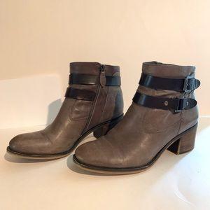 Franco Sarto A-Linden2 Grey Leather Bootie